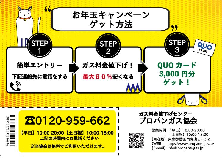 QUOカードプレゼントキャンペーンの流れ